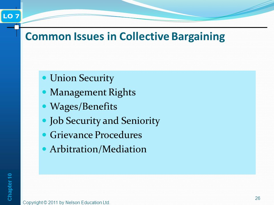 Common Issues in Collective Bargaining