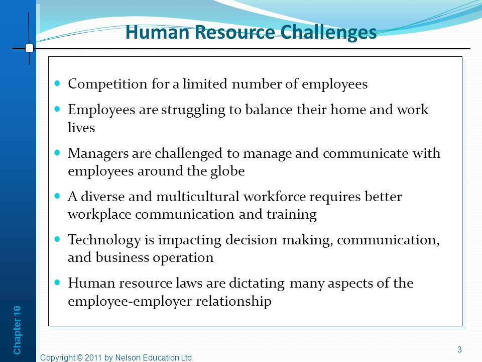 Human Resource Challenges
