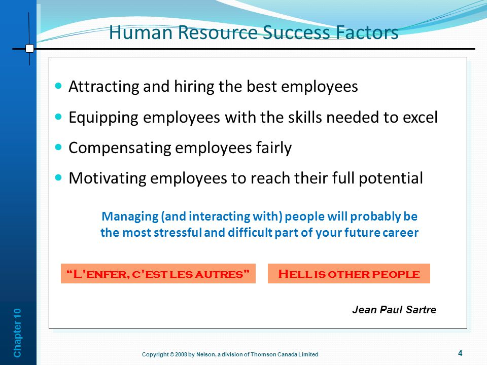 Human Resource Success Factors