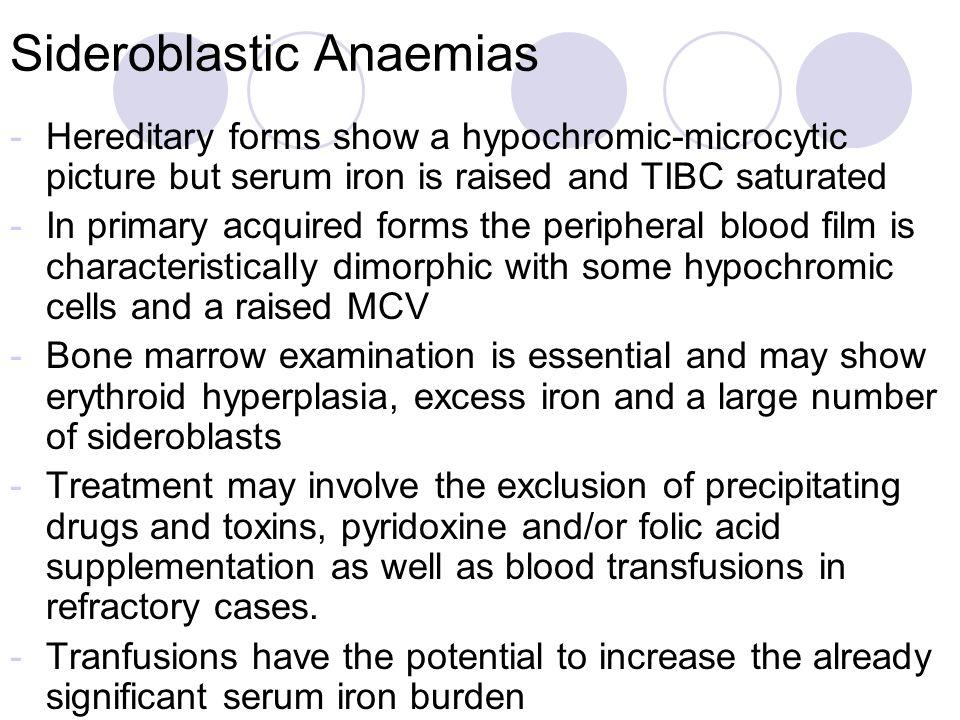 Sideroblastic Anaemias