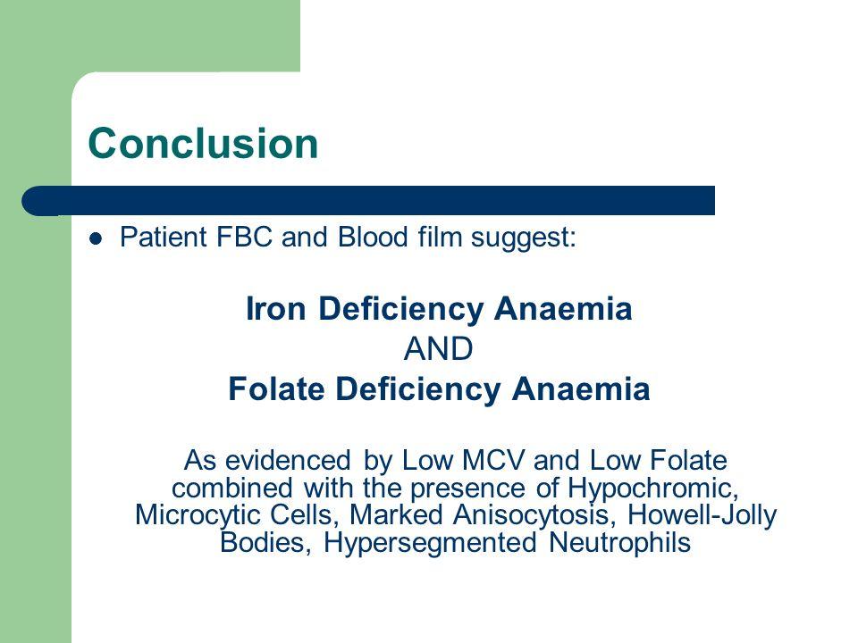 Folate Deficiency Anaemia