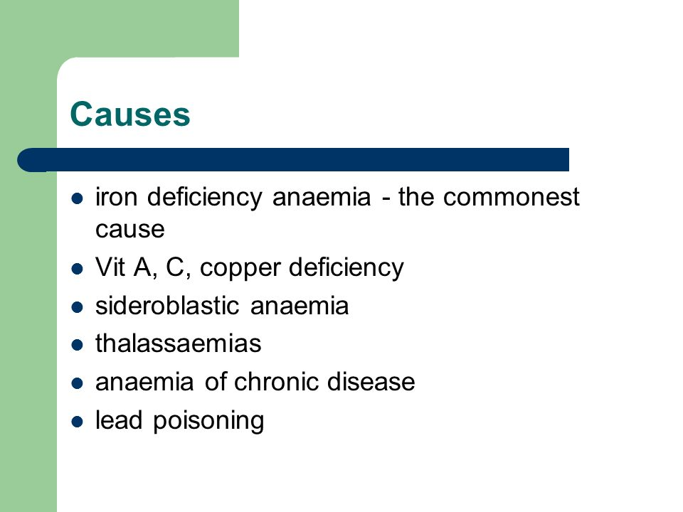 Causes iron deficiency anaemia - the commonest cause
