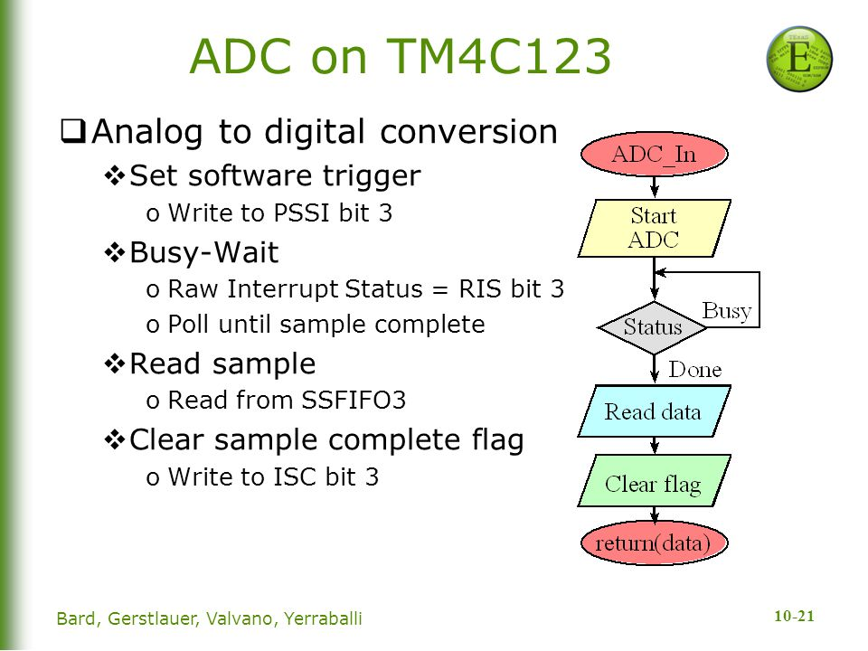ADC on TM4C123 Analog to digital conversion Set software trigger