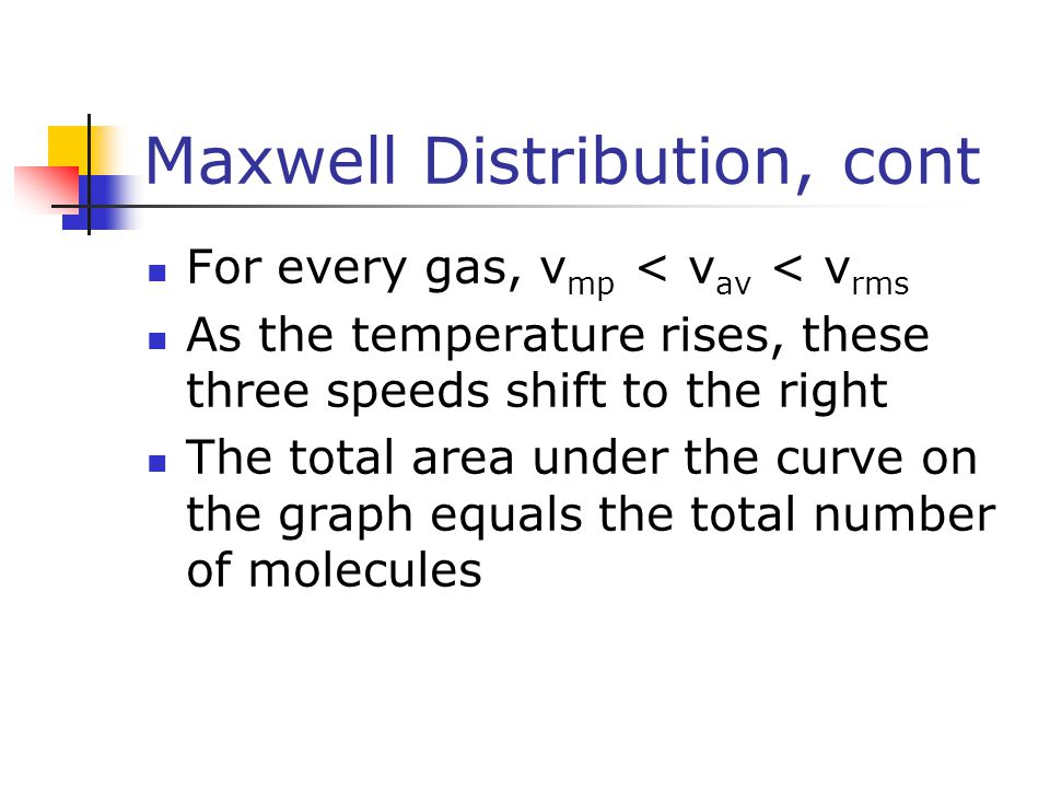 Maxwell Distribution, cont