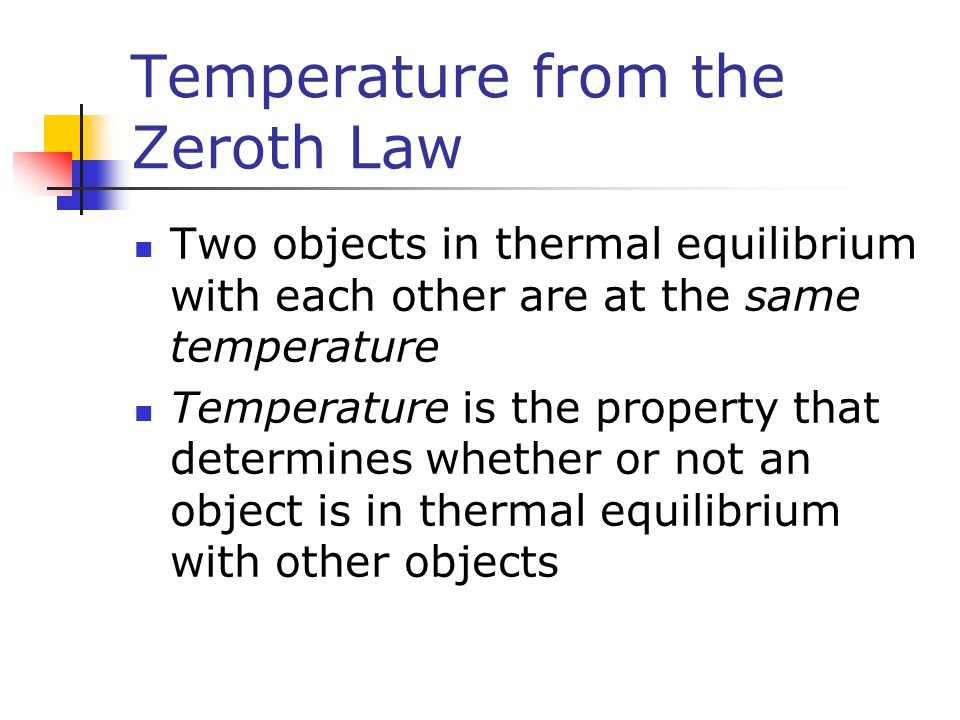 Temperature from the Zeroth Law