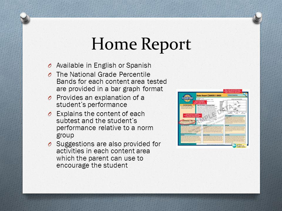 Home Report Available in English or Spanish