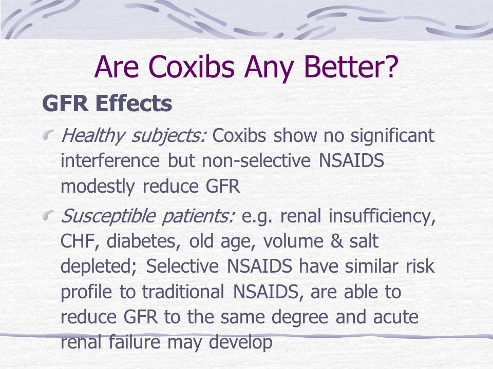 Are Coxibs Any Better GFR Effects