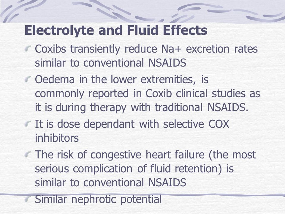 Electrolyte and Fluid Effects