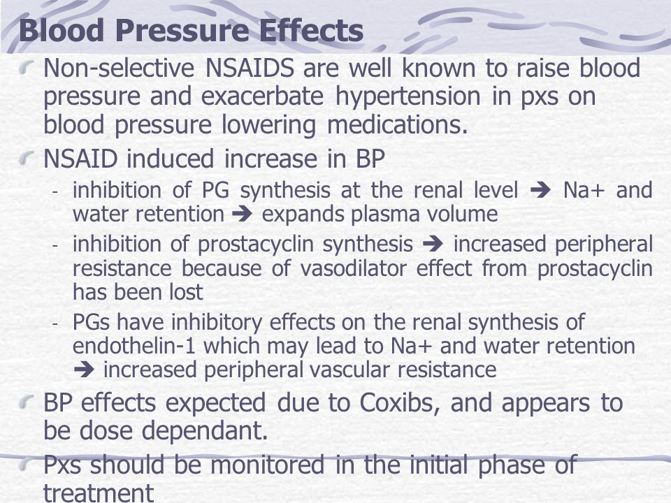 Blood Pressure Effects