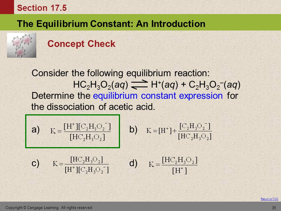 Consider the following equilibrium reaction: