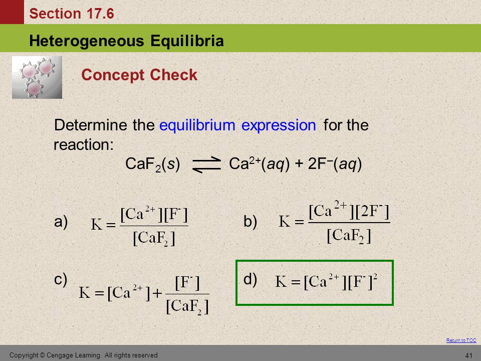 Determine the equilibrium expression for the reaction: