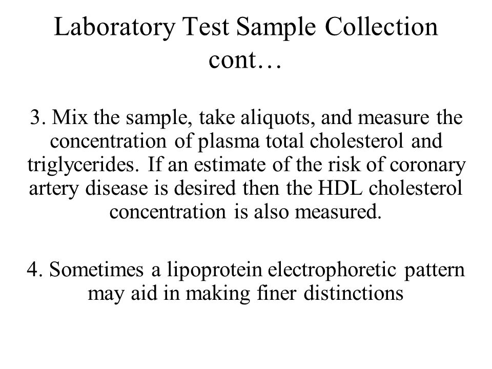 Laboratory Test Sample Collection cont…
