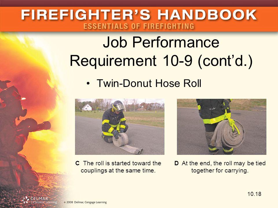 Job Performance Requirement 10-9 (cont'd.)