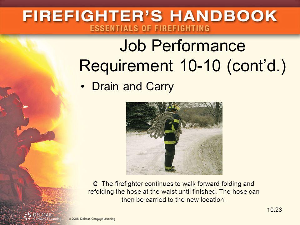 Job Performance Requirement 10-10 (cont'd.)