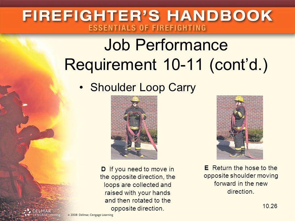 Job Performance Requirement 10-11 (cont'd.)