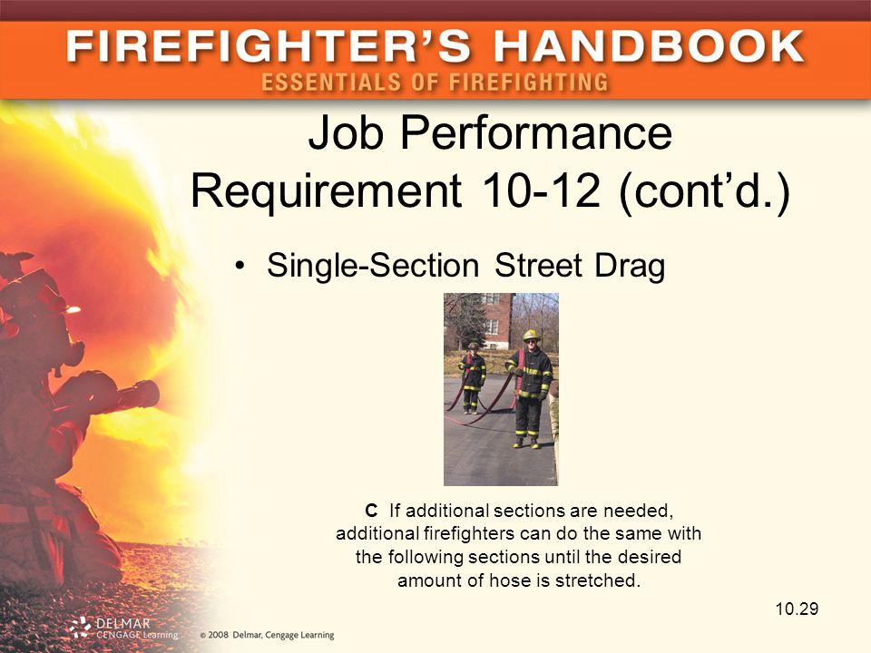 Job Performance Requirement 10-12 (cont'd.)