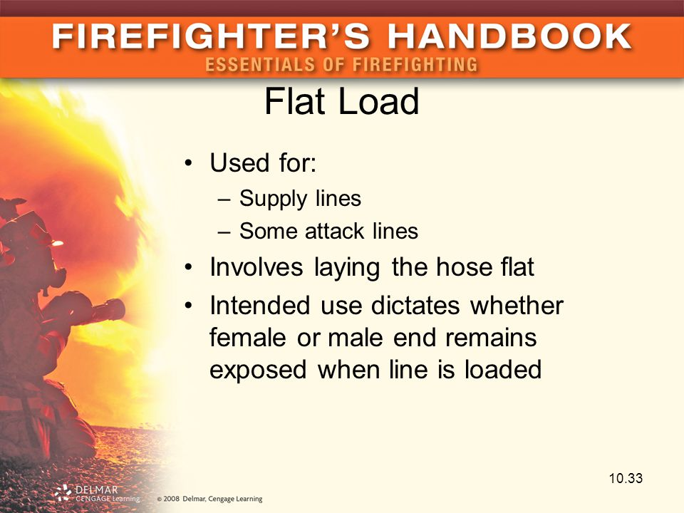 Flat Load Used for: Involves laying the hose flat