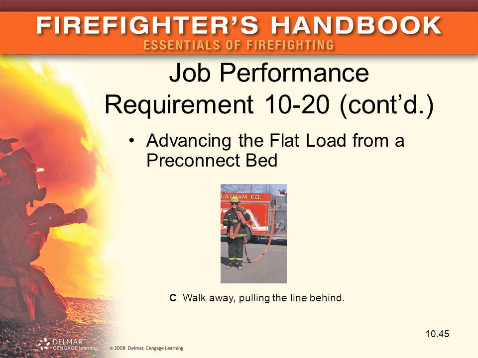 Job Performance Requirement 10-20 (cont'd.)