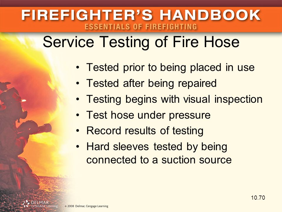 Service Testing of Fire Hose