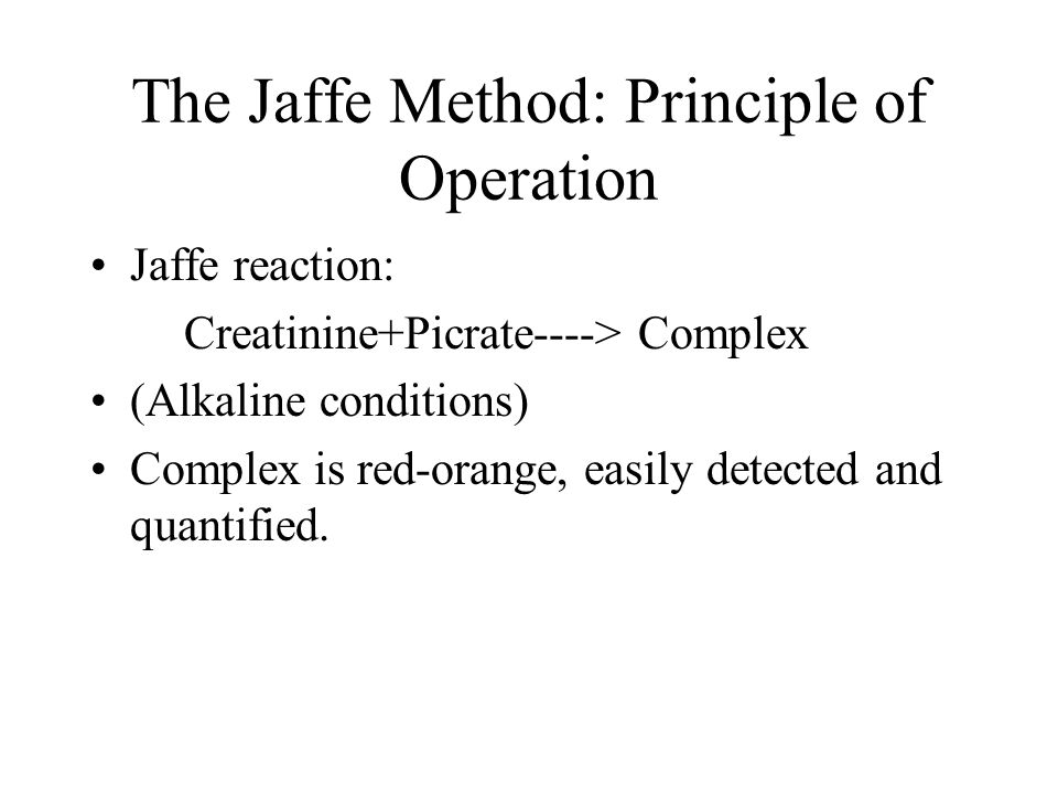 The Jaffe Method: Principle of Operation