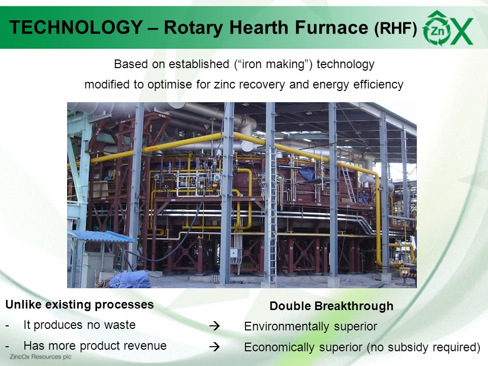TECHNOLOGY – Rotary Hearth Furnace (RHF)
