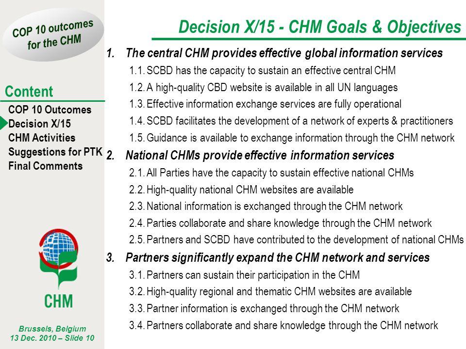 Decision X/15 - CHM Goals & Objectives