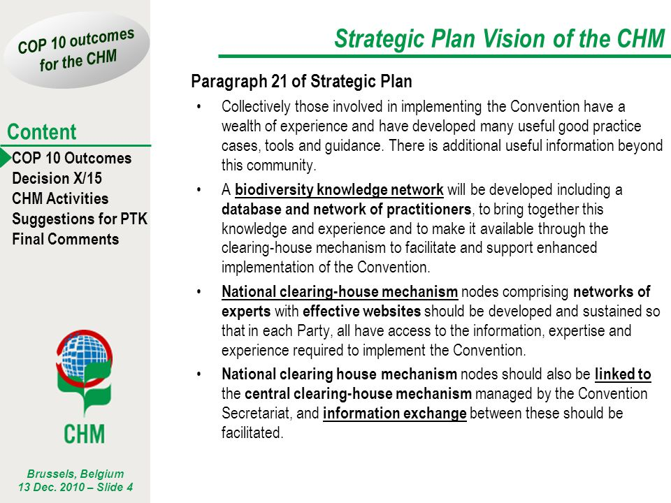 Strategic Plan Vision of the CHM