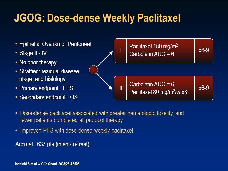 JGOG: Dose-dense Weekly Paclitaxel