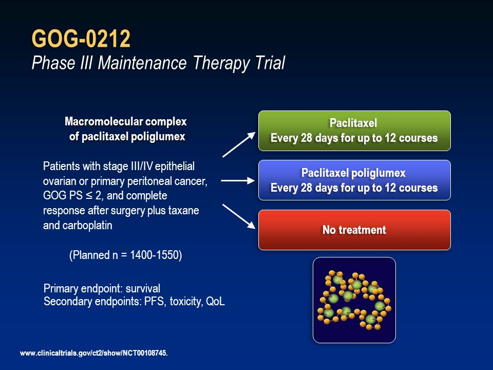 GOG-0212 Phase III Maintenance Therapy Trial