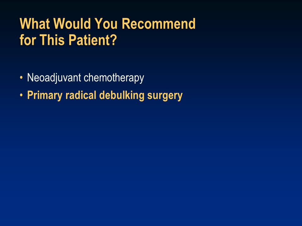 What Would You Recommend for This Patient