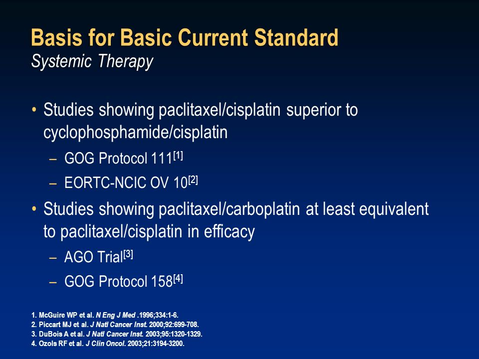 Basis for Basic Current Standard Systemic Therapy