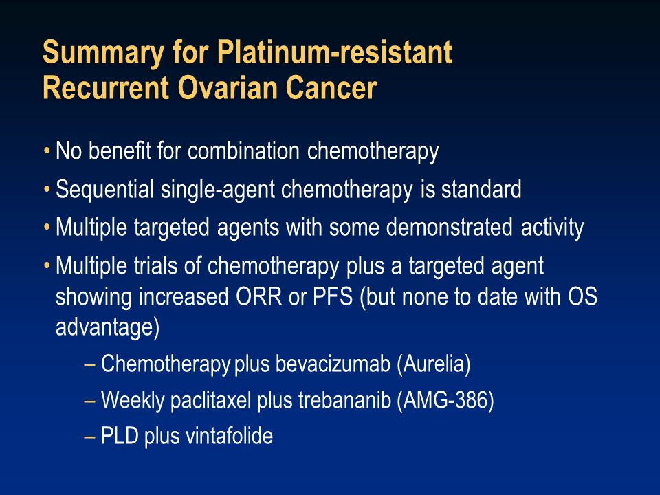 Summary for Platinum-resistant Recurrent Ovarian Cancer