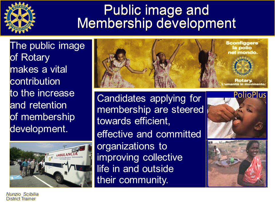 Public image and Membership development