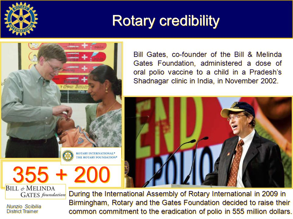 Rotary credibility