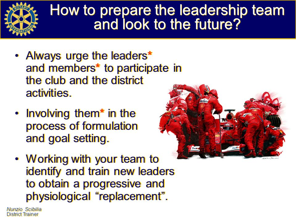 How to prepare the leadership team and look to the future