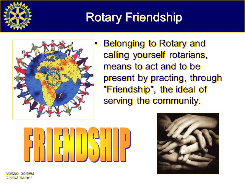 Rotary Friendship FRIENDSHIP