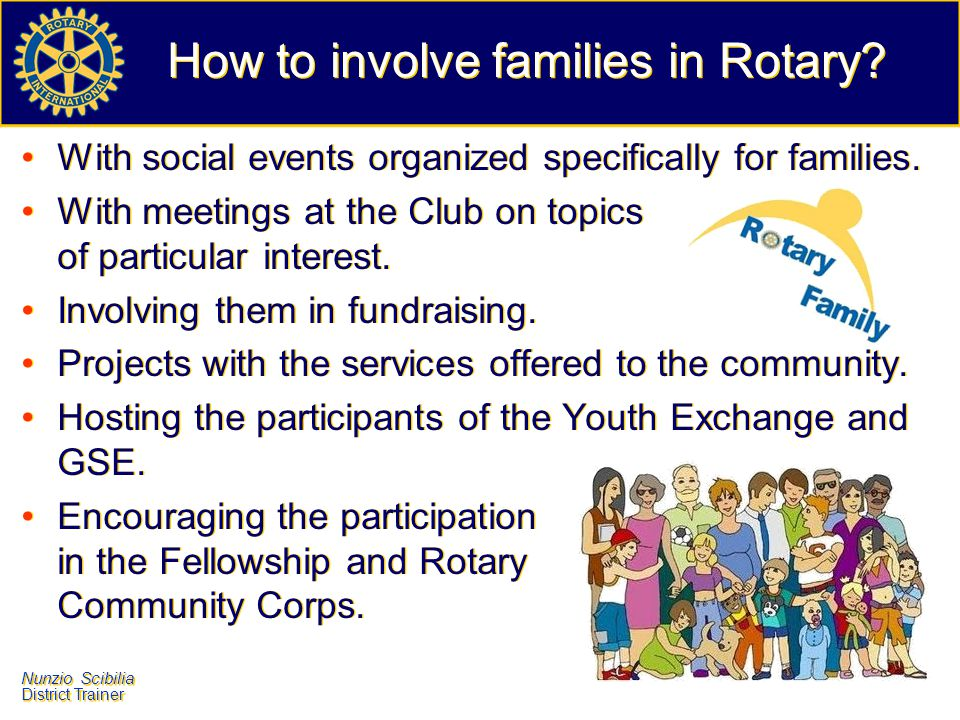 How to involve families in Rotary