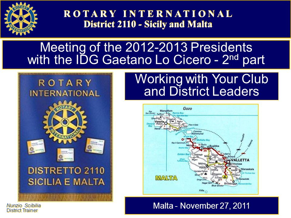 District 2110 - Sicily and Malta