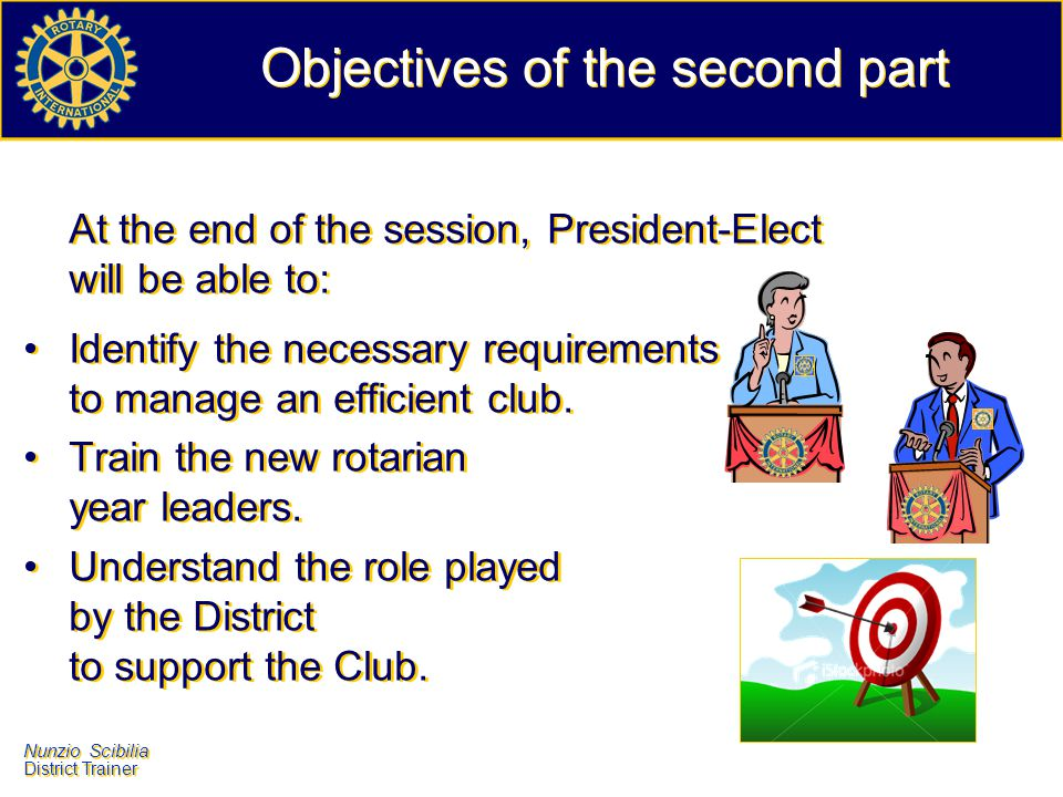 Objectives of the second part