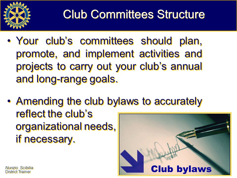 Club Committees Structure