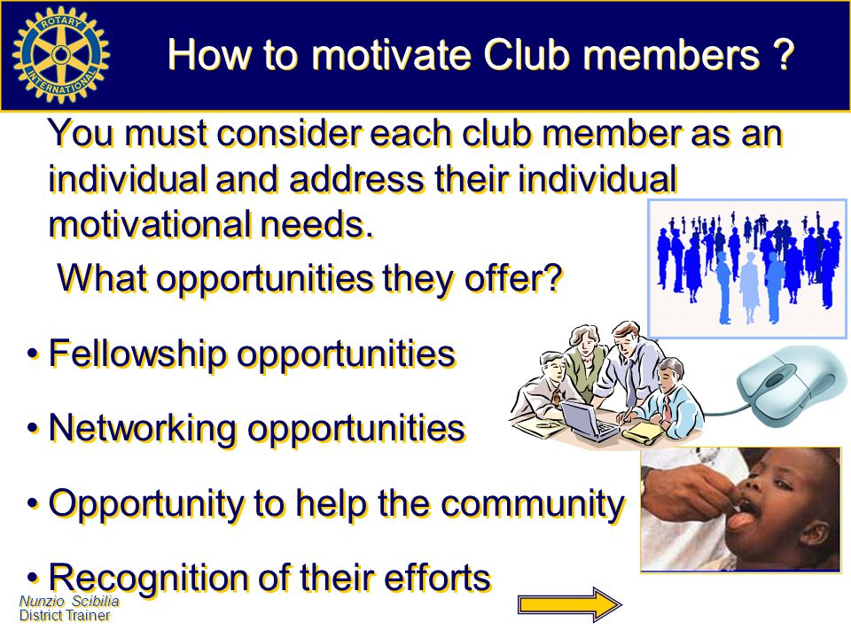 How to motivate Club members