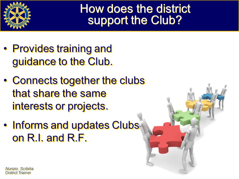 How does the district support the Club
