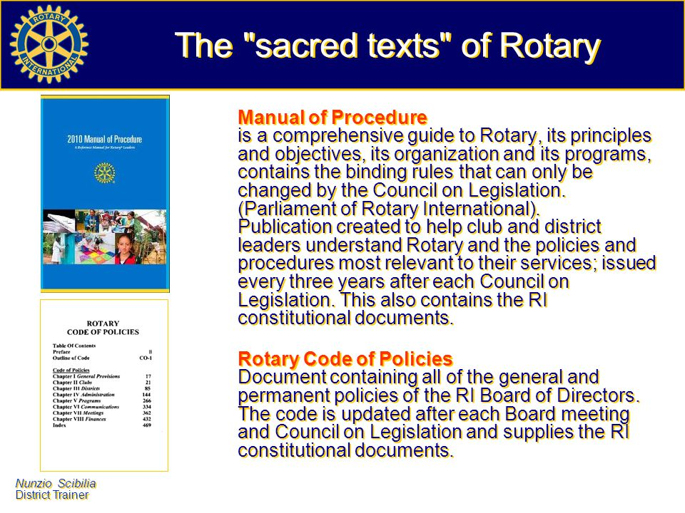 The sacred texts of Rotary