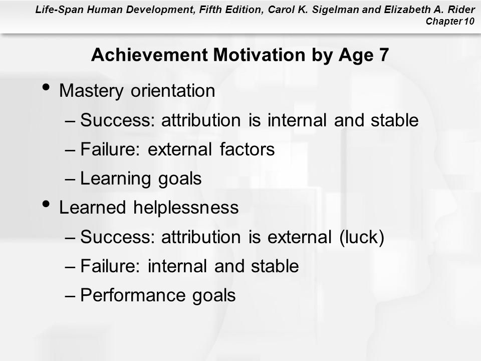 Achievement Motivation by Age 7