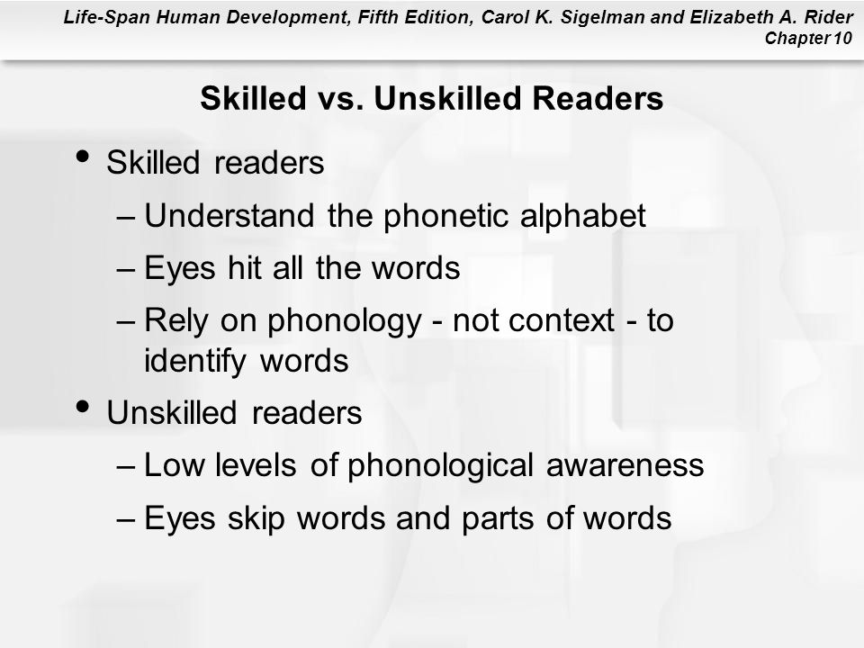 Skilled vs. Unskilled Readers