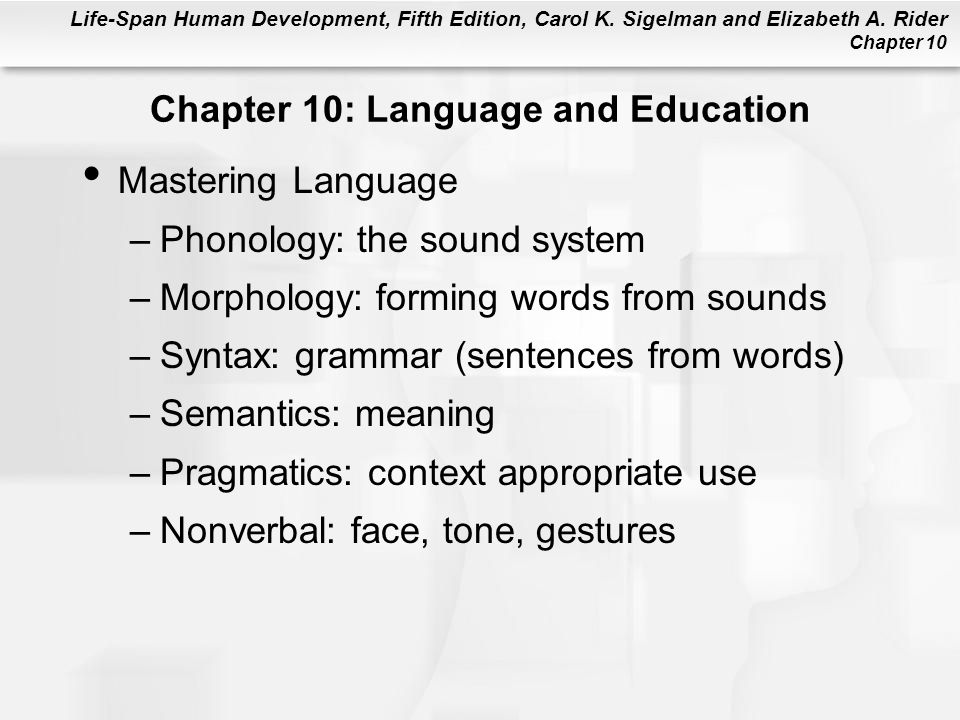 Chapter 10: Language and Education