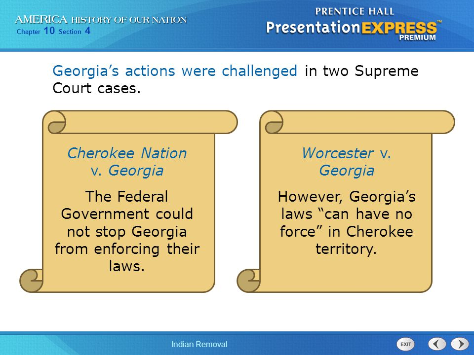 Georgia's actions were challenged in two Supreme Court cases.