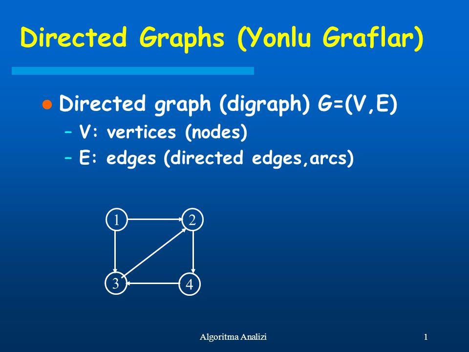 Directed Graphs (Yonlu Graflar)