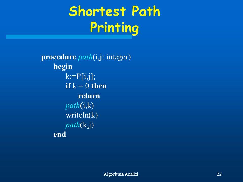 Shortest Path Printing