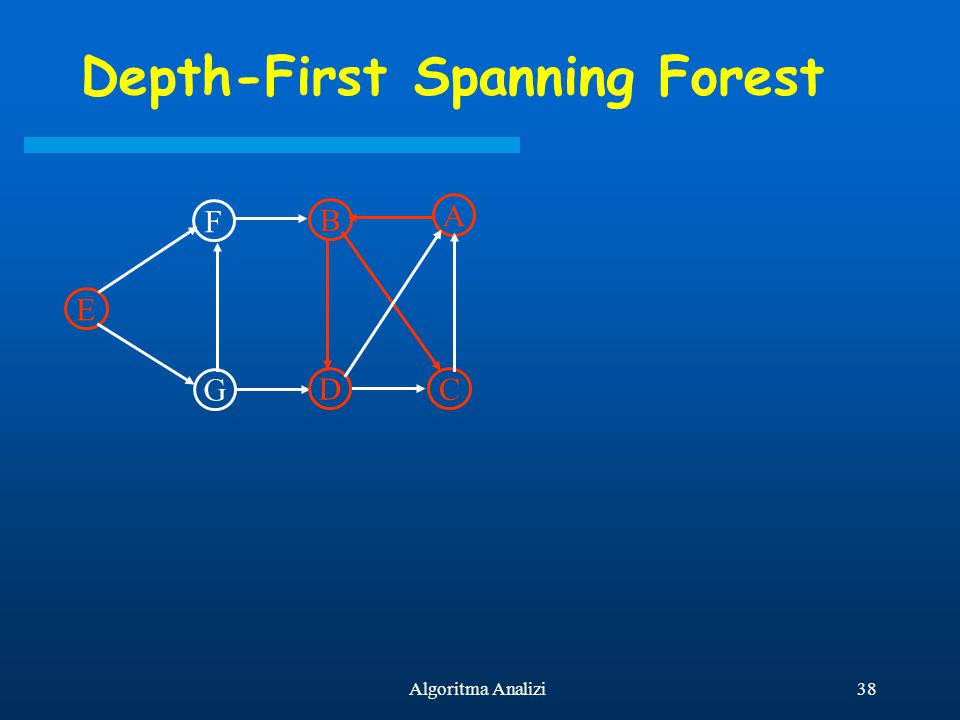 Depth-First Spanning Forest